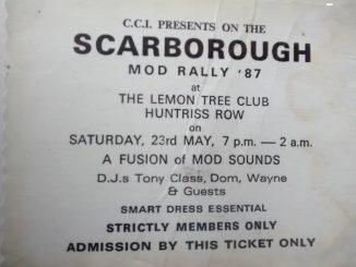 Scarborough CCI Mod Rally Ticket 23/05/87