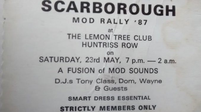 Scarborough CCI Mod Rally Ticket 23/05/87