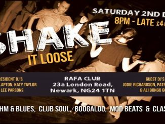 Shake It Loose - Guest DJs Jodie Richardson, Ali 'Bongo' Goby & Patricia Wagner, Newark, Nottinghamshire NG24 1TN 2/12/17. 60s Soul, 60s R&B, Booglaoo & Mod