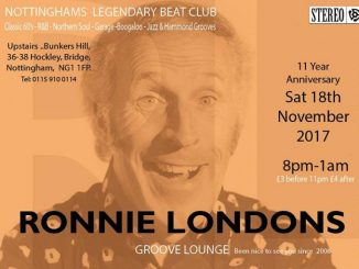 Ronnie Londons Groove Lounge - 18/11/17