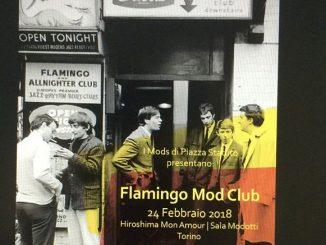 Flamingo Mod Club - DJs Lucas Gommersall, Milanese Enrico Lazzeri & Andrea Cumiana, Hiroshima Mon Amour, Turin, Italy, 10135. 24/2/18. Vintage & 60s R&B, Soul & Mod Jazz