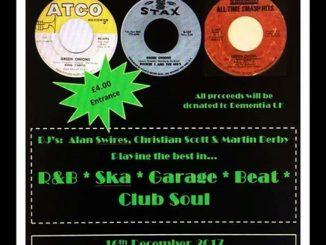 Green Onions, Lincoln, LN1 1EZ, DJ's Alan Swires, Christian Scott & Martin Derby, 60s R&B, Ska, Garage, Beat, Club Soul /60sSoul 16/12/17