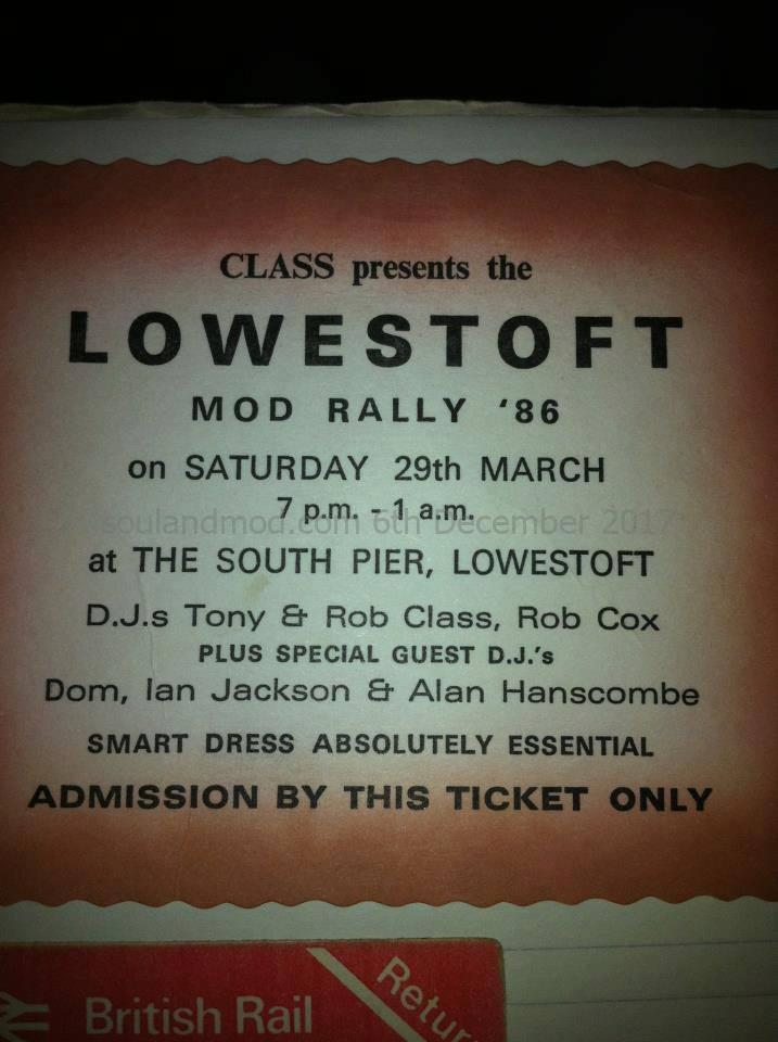 Lowestoft Mod Rally 1986 - DJs Tony Class, Alan Handscombe, Ian Jacksom, Dom Bassett, Rob Cox & Rob Class