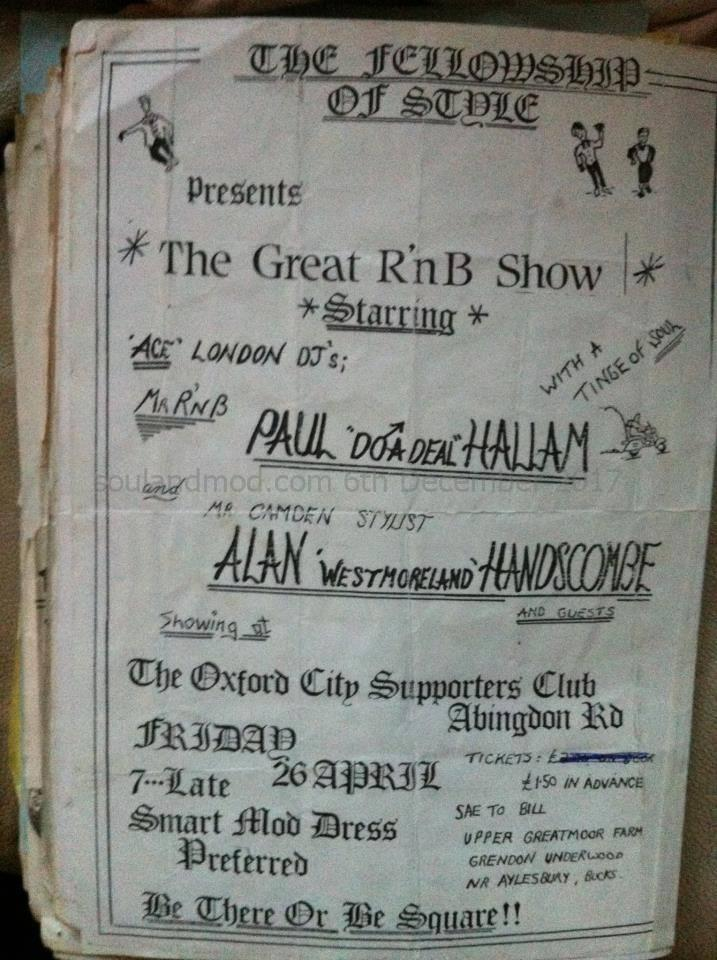 The Fellowship Of Style - DJs Alan Handscombe & Paul Hallam 1980s Mod Event Aylesbury