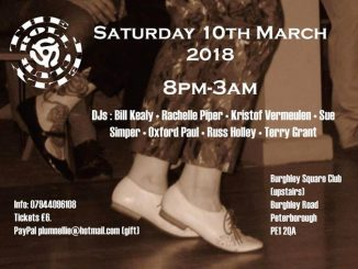 The Jelly Roll, Peterborough PE1 2QA - DJs DJs Bill Kealy, Rachelle Piper, Kristof Vermeulen, Oxford Paul, Sue Simper, Ross Holley & Terry Grant. Playing 50s R&B, 60s R&B, Soul, Ska & Reggae. 10/03/18