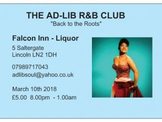 "The Ad-Lib Club, Lincoln ""Back to the Roots"" - Lincoln, LN2 1DH. DJs Tim North, Steve Longworth, Martin Greene, Christian Scott, Andrew & Eileen Vasey - Vintage / 60s RnB 10/03/18"