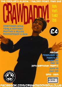 Crawdaddy! 8th Birthday Party with Guest DJ Freddie Boom Boom, London, NW5 3HS - Tamla Motown, Ska, Mod & Northern Soul - 15/05/2018