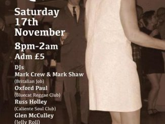 The Jelly Roll Club - Peterborough, PE1 4YL. DJs Mark Crew, Mark Shaw, Oxford Paul, Russ Holley, Glen McCully & Julian Roberts. Playing 50s R&B, 60s R&B, 60s Soul. 17/11/18