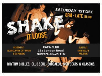 Shake It Loose - Newark, Nottinghamshire NG24 1TN - Guest DJs Paul Davis & Chris Riley & resident DJs Lee Parsons, Katy Taylor & Julian Clapton. 60s Soul, vintage & 60s R&B, Booglaoo & Mod. 01/12/18