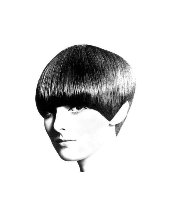 The five point bob, Vidal Sassoon cut - Grace Coddington 1965
