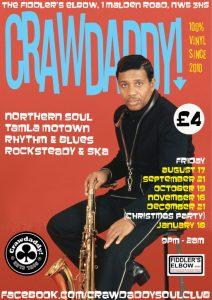 Crawdaddy! Christmas party with guest DJ Alan Handscombe-McGrath, London, NW5 3HS - Ska, 60s R&B, Northern Soul, Rocksteady & Motown. 21/12/2018