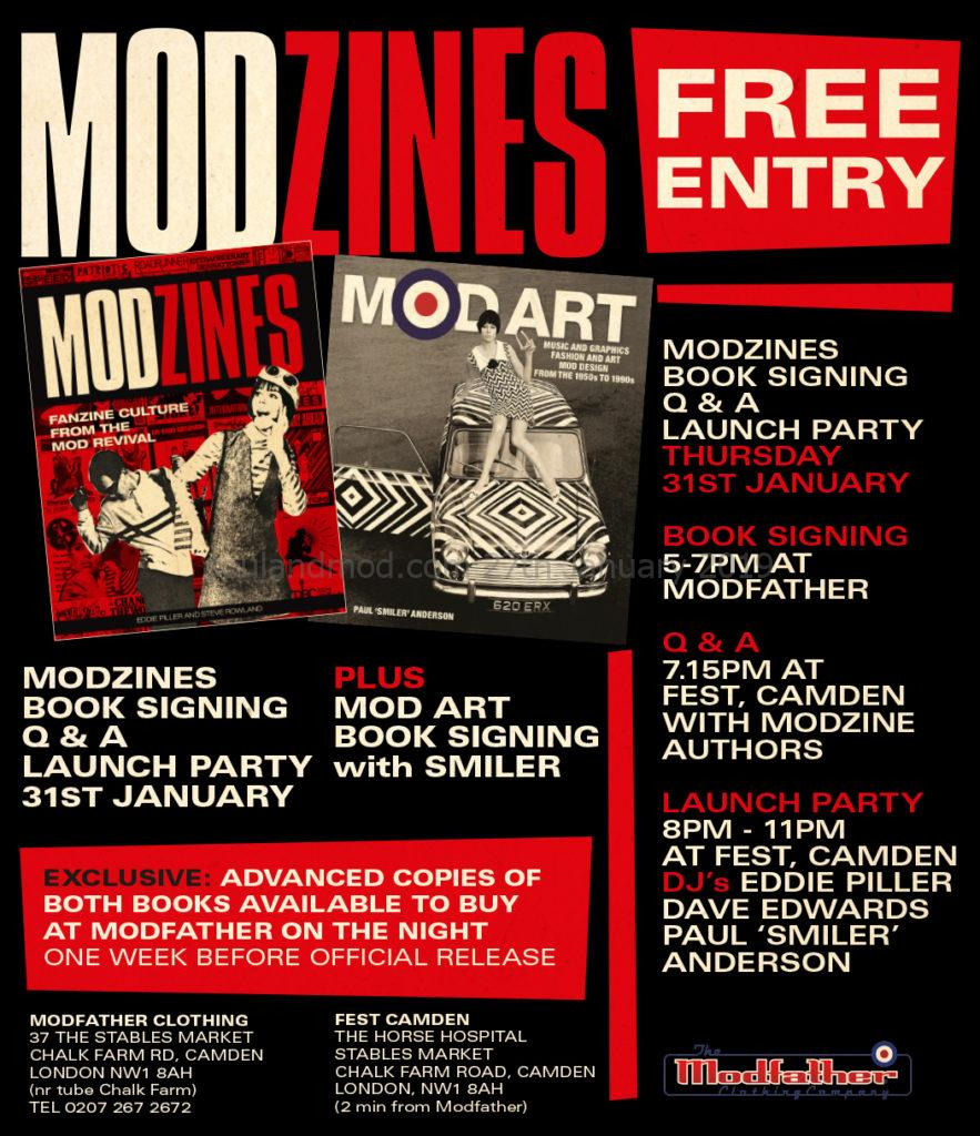 Modzines by Eddie Piller & Steve Rowland - Book Launch 2019