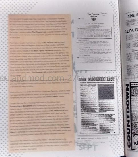 Modzines The Phoenix List Mark johnson 1983/1984
