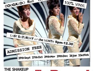 The Shakeup - London SW4 6DZ. DJs Glen Goodwin, Curtis, Taylor & Jon Dabner. 60s R&B, Northern Soul, 60s Soul, Boogaloo, Motown & Mod Jazz. 26/01/19