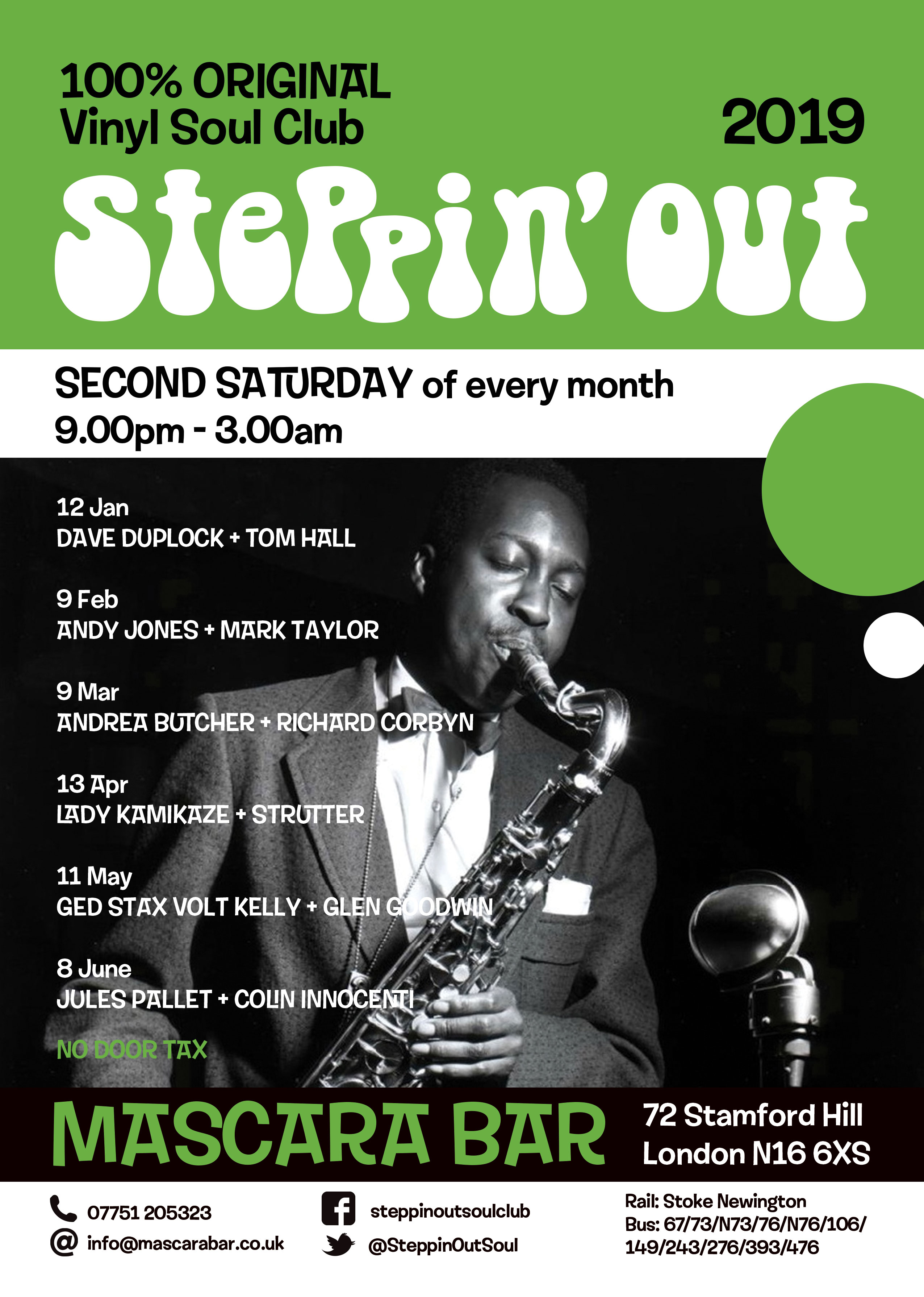 Steppin' Out - Guest Dave Duplock & Big Tony - London N16 6XS - Northern Soul, Vintage / 60s R&B, Crossover Soul, Mod Jazz & Boogaloo. 12/10/19