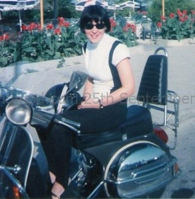 Clelia Lucchitta Italian Mod Girl circa 1990s at a Mod Rally in Lignano Sabbiadoro