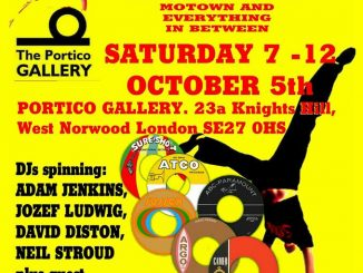 House of Bamboo Soul Club, Portico Gallery, London SE27 OHS, DJs Adam Jenkins, Tom Ambrose, Dave Diston & Neil Stroud. Northern Soul, 60s Soul, Tamla Motown, Latin Soul & 60s R&B. 05/09/19