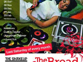 The Shakeup - DJs Big Tony, Clovis Taylor & Jon Dabner. 68 Clapham Manor Street, London SW4 6DZ. 60s R&B, Northern Soul, 60s Soul, Boogaloo, Motown & Mod Jazz. 26/10/19