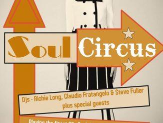 Soul Circus - DJS Ritchie Long, Claudio Fratangelo & Steve Fuller, The Crown, 9 Market Square, Stony Stratford, Milton Keynes MK11 1BE. Playing 60s Soul, Motown, Boogaloo & Ska. 29/11/19