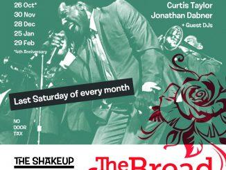 The Shakeup - DJs Brian Baker, Curtis Taylor & Jon Dabner. 68 Clapham Manor Street, London SW4 6DZ. 60s R&B, Northern Soul, 60s Soul, Boogaloo, Motown & Mod Jazz. 25/01/20
