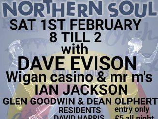 Stolen Hours Soul Club - DJs Dave Evison, Ian Jackson, Glen Goodwin, Dean Olphert, David Harris & Mark Tattingham. The Cornerstone, 300 Saxon Gate, Milton Keynes MK9 2ES. Playing Northern Soul. 01/02/20