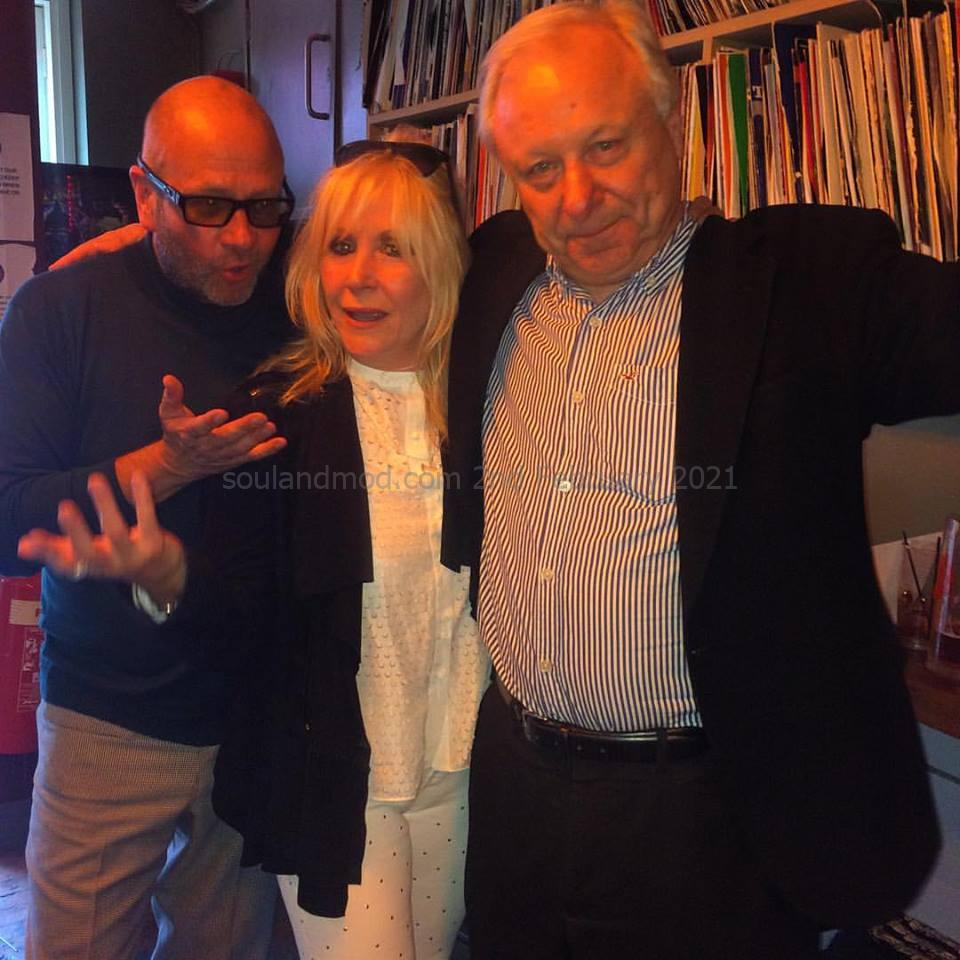Paul Hallam, Actress Carol Harrison & Richard Barnes Author Of Mods! Book Photo copyright & kind permission of Paul Hallam