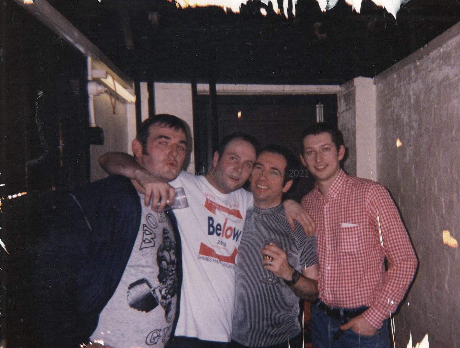Paul Hallam, Pete Shelley Of The Buzzcocks & Dave Edwards 1997